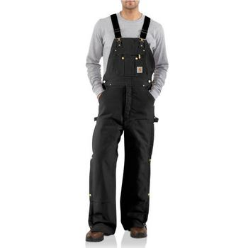 Carhartt Duck Zip-to-Thigh Bib Overall - Quilt Lined #R41